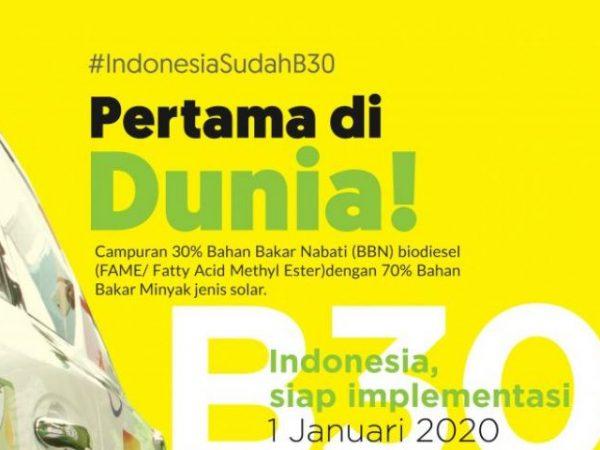 Pertama di Dunia, Indonesia Terapkan Biodiesel 30 Persen (B30)