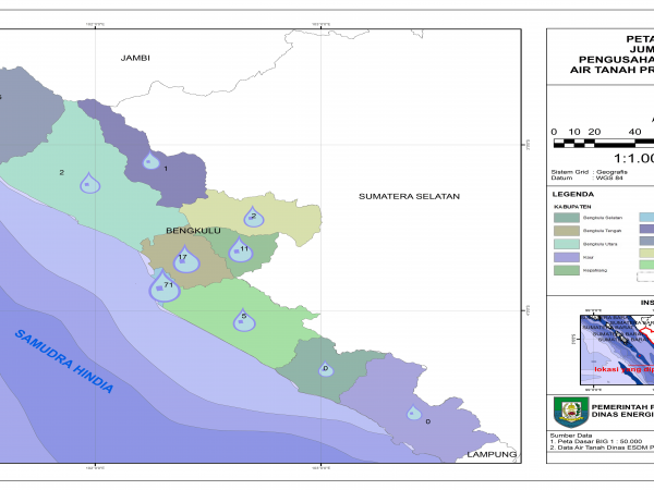 Peta Tematik Izin Pemanfaatan Air Tanah