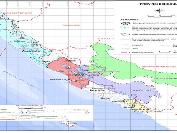 Peta Cekungan Air Tanah Bengkulu